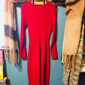 Vintage maxi dress with cutout sleeves